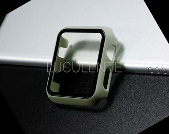 Hard PC Case With Built in Screen Protector Compatible With Apple iWatch Series 6 se 5 4 3 2 1   44mm 42mm 40mm 38mm   Olive