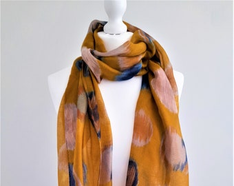 Bohemian Inspired EARTH COLORS ScarfSpring Summer Autumn ScarfGifts For MotherScarf For WomenAccessories african fabric SCARF