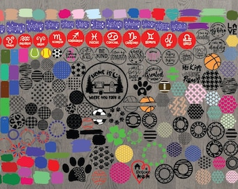 Circle Acrylic Keychain Svg Files  – 159+ SVG File for Cricut