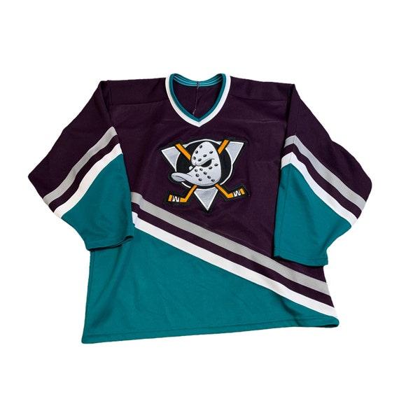 Mighty Ducks Black Gold and White Hockey Jersey Mens Size Medium