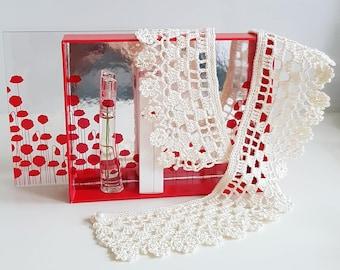 Handmade Crochet Collar Necklace | White Peter Pan Detachable Collar | Victorian Lace Collar Necklace | Unique Floral Edges Collar