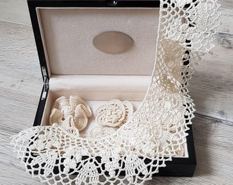 Detachable Lace Crochet Collar Necklace | Handmade Victorian Crochet Collar | Peter Pan Collar | Women's Fashion and Accessories