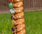 Gemstone Wire Ring