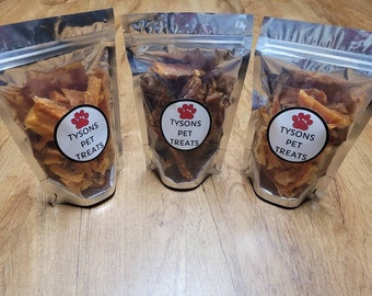 Salmon Strips, Dog Treats, Human Grade Pet Treats for Cats and Dogs, All Natural, Healthy Gourmet Food for Pets