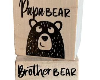 Bear Family Wooden Blocks