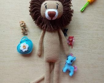 Lion, crochet lion, amigurumi,  toy for a newborn