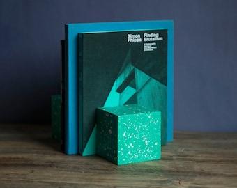 Terrazzo Jesmonite Cube Bookend | Home Decor | Handmade | Design | Book End