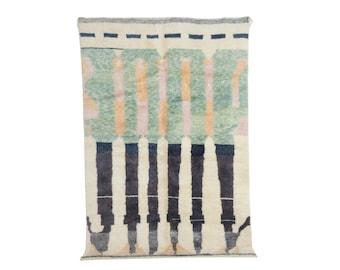 Moroccan rug - Azilal rug - handmade wool rug Boujaad Rug 9,84 Ft X 6,69 Ft Free shipping worldwide