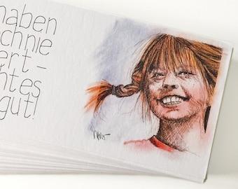 Pippi Set of 10 Postcards