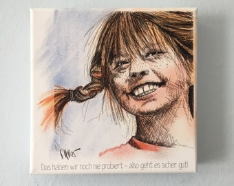 Pippi. Print of the original on canvas