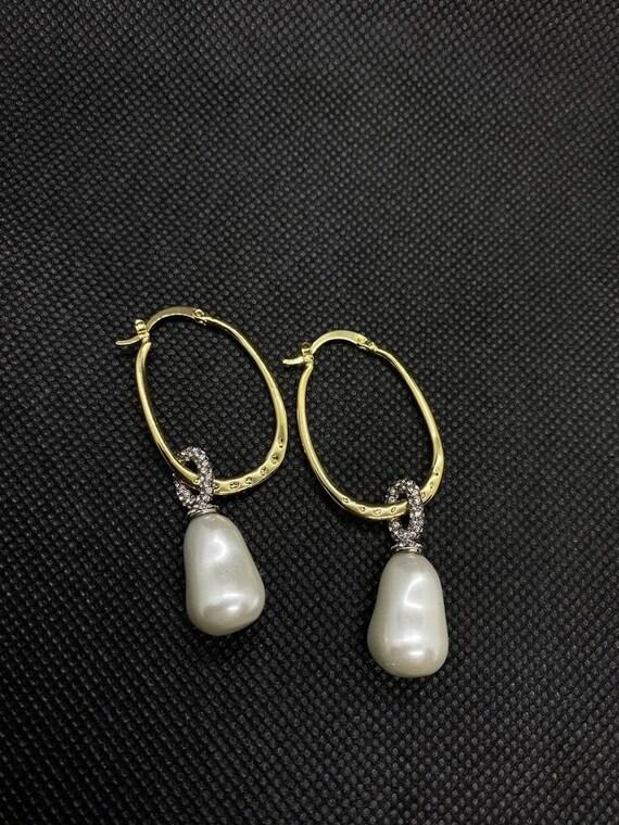 Vintage Celine Gold Earrings - image 1