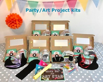 Party/Art Project kit for 1. Make felt jewellery, face paint with gems, biodegradable glitter, play art games. For all ages.