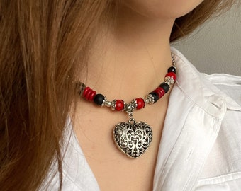 Necklace -Checker from Stones, Pendant Ethnic style, Jewelry on the neck with Pendant