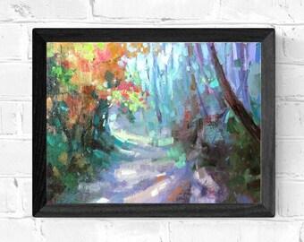 Original Painting Peaceful Lane  Framed CW143-OPF4 8 x 10