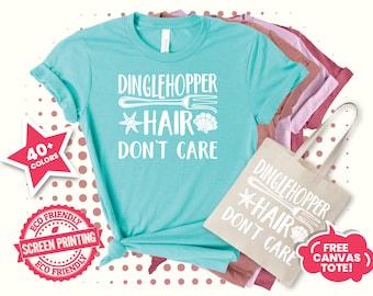 Dinglehopper Hair Don't Care Shirt,  Disney Vacation Shirts, Disneyworld Tee, Disney Family Matching Shirts