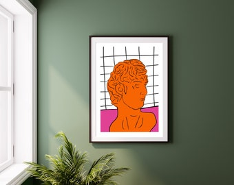 A3 A4 and A5 Wooden Frames Available Made in UK CUSTOMISED Funny and Cheeky Today Has Been Cancelled Go Back To Bed Art Print Modern and Quirky Design