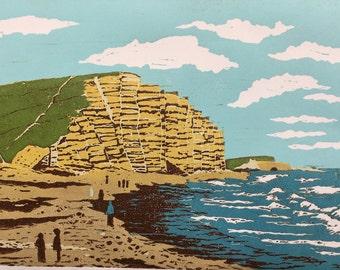 Lyme Regis Artwork Lyme Regis Art Original Lyme Regis Artwork Digital Prints Digital Artwork Lyme Regis Print