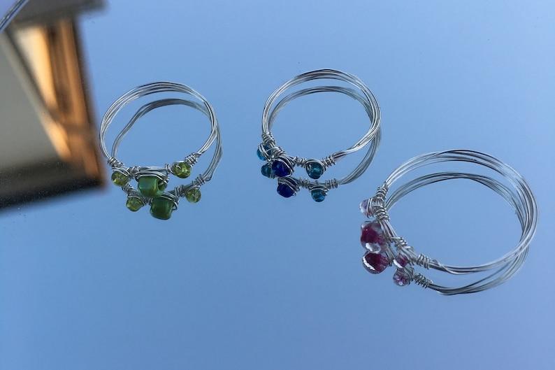 Ring mit drei Perlen