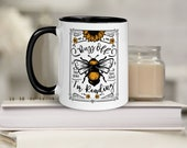 Buzz off I'm Reading Funny Bee Bookish Mug for Readers Go Away I'm Reading Literary Coffee Mug Gift Under 5 for Reader Friend Cute Nerdy