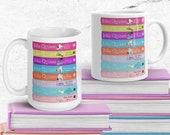 Julia Quinn Romance Reader Bridgerton Bookstack 15oz Mug for Readers Bookish Coffee Mug Tea Mug for Reader Gift Regency Romance Lover