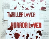 Blood Splatter Thriller Lover Bookmark Horror Lover Book Mark Gift for Reader Friend Creepy Bloody Book Mark for Bookstagram Gift Under 5