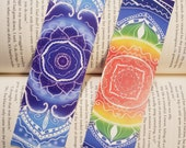Mandala Bookmarks Beautiful Colorful Rainbow Bookmark Gift for Book Lovers Indigo Blue Bookmark Artistic Painted Book Mark for Bookstagram