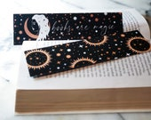 Books are Magic Witchy Woman Celestial Bookmark Sun Moon and Stars Bookmark Gift for Readers Halloween Bookmark