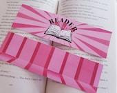 Pink Reader Starburst Bookmark for Bibliophiles Librarian Gift for Readers Feminine Bookstagram Reader Friend Gift
