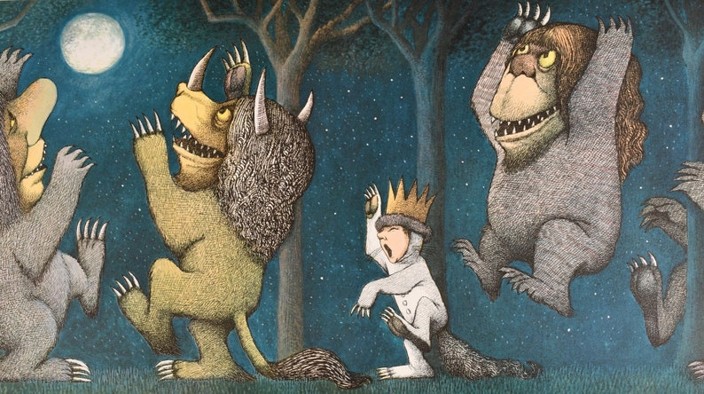 1971 Where the Wild Things are Print Maurice Sendak Let the image 0
