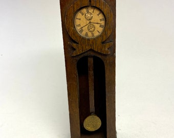 Intriguing Antique Grandfather Clock, 1:12 Scale