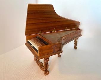 Stunning George Becker Dollhouse Pianoforte, 1:12 scale