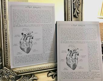 Vintage Cards – Dark Academia – Motiv Heart
