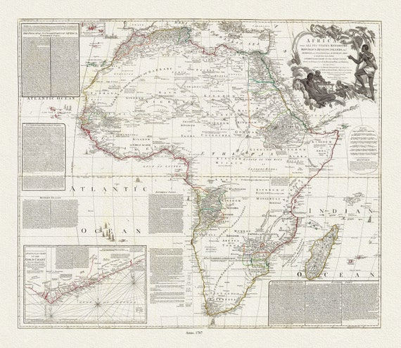 Boulton, Africa, with all its states, kingdoms, republics, regions, islands, &ca., 1787