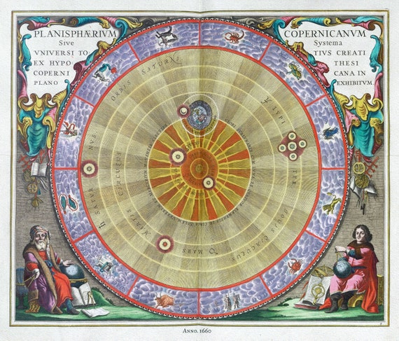 "Cellarius, Harmoni Macrocosmica IV, 1660 , map on heavy cotton canvas, 50 x 70cm, 20 x 25"" approx."