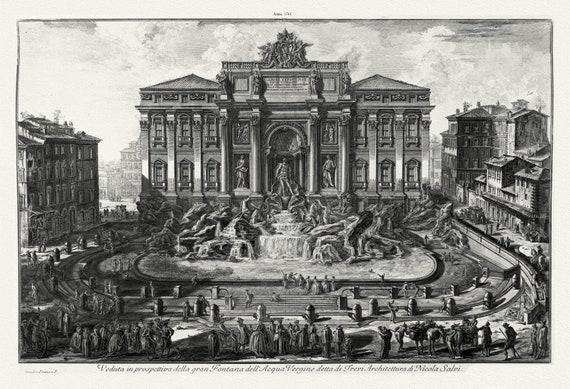 Giovanni Battista Piranesi, Veduta In Prospettiva Della Gran Fontana Dell'Acqua Vergine Detta Di Trevi. Architettura Di Nicola Salvi, 1761,