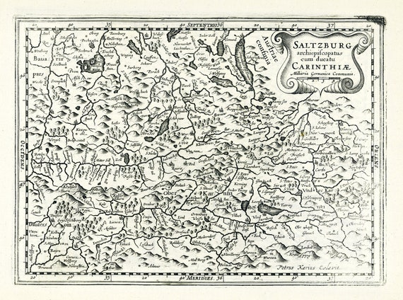 Austria: Saltzburg Archiepiscopatus cum Ducatu Carinthiae.1636. Mercator et al. auth.