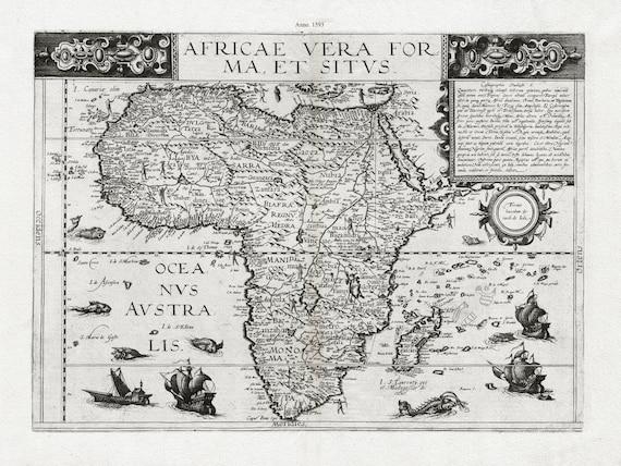 Gerard de Jode, Africa, c.1593