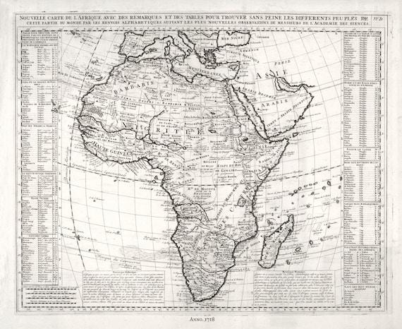 Henri Chatelain-Tome I. No. D. Nouvelle Carte De L'Afrique, 1718