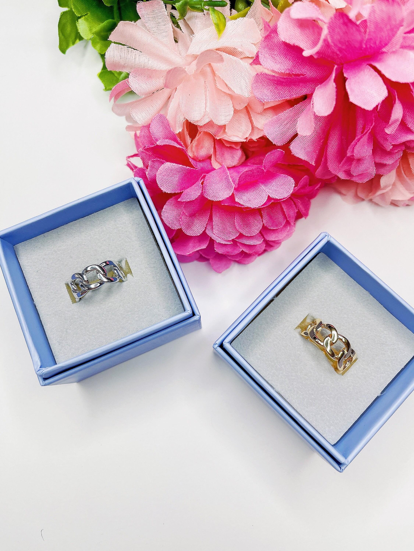 Kette Ring Frauen Ring Aussage Ring gold Ring Splitter