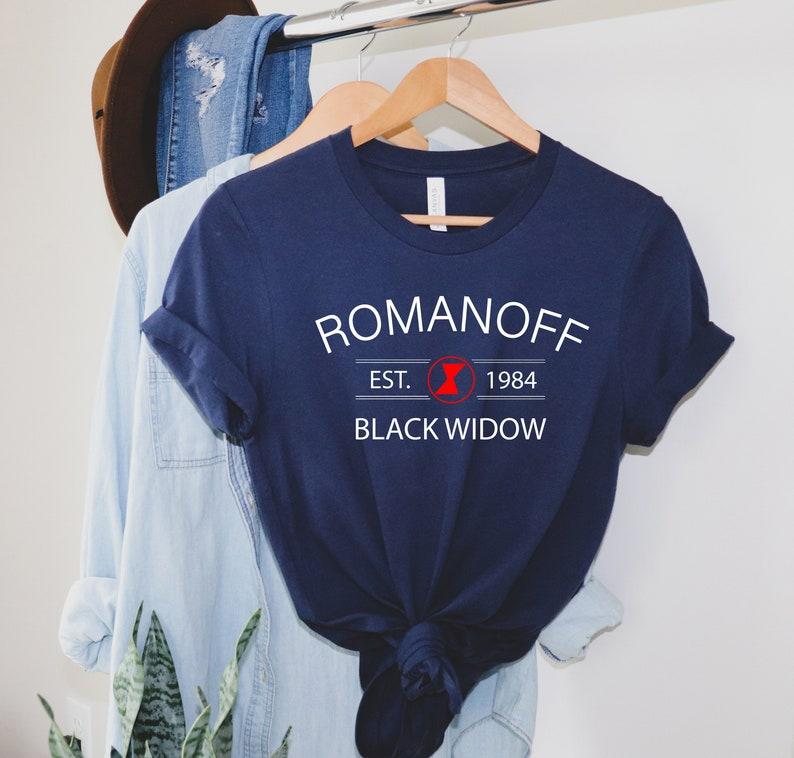 Romanoff 1984 Shirt Black Widow Shirt Natasha Romanoff image 0
