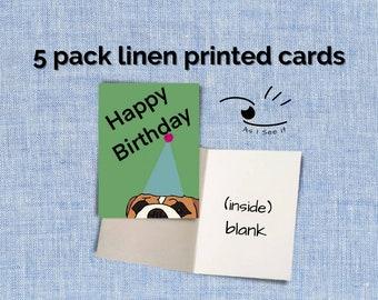 Happy Birthday Dog Greeting Cards (5 pack)