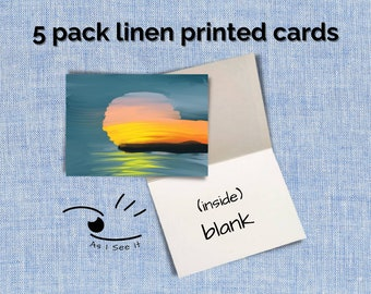 Blank Cards Linen (5 pack)