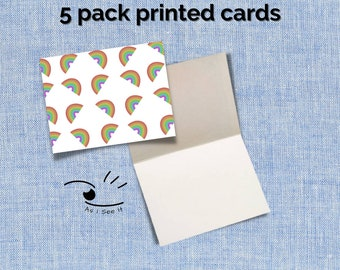 Rainbow Greeting Card (personalized stationary available)