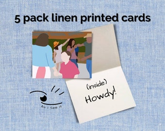 Howdy Cards Linen (5 pack)