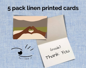 Thank You Cards Linen(5 pack)