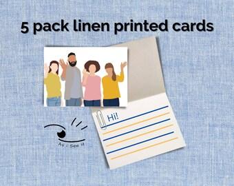 Hi Cards Linen (5 pack)