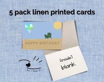 Happy Birthday Beach Greeting Card