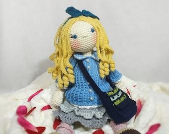Amigurumi doll Smila, crochet fabric, doll crochet