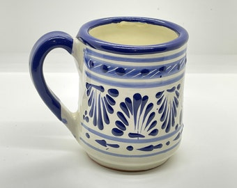 Cappuccino Latte or Hot Chocolate Mug for Daily Use and Home Decor Coffee Large 5 16oz Flowery Mexican Talavera Pottery Soup