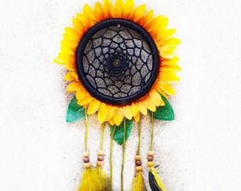 Handmade Sunflower Dreamcatcher Bedroom Nursery Wall Hanging Ornament Décor Craft Gift- Lovely Dreamcatcher